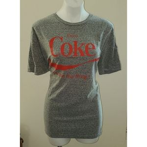 Plus size gray coca cola t-shirt